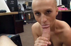 Ash-blonde stunner persuaded to screw..