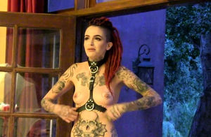 Inked Hottie Posing Bare