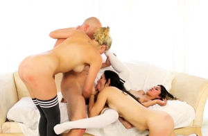 Ambisexual ass fucking romp very first..