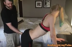 Nubile blond exercise tramp gets..