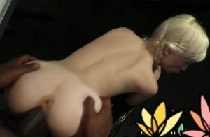 Teensy milky slut ravaged by dark-hued..