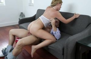 Leah Lee Gasping On Stepbrothers Cock..