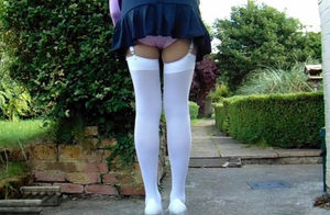College Gymslip Milky Stocking Cotton..