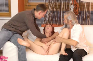 Nymphs young womans threeway with..