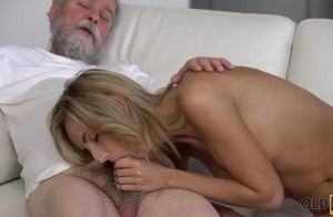 Old4k. spunky senior and nubile gig in..