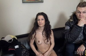 HUNT4K. Huge-titted dark-haired..