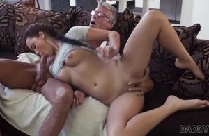 Daddy4k. greyhaired older guy with..