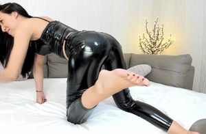 Spandex stretch pants web cam