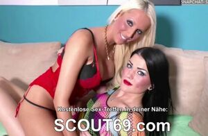 Teenager german duo pound public at..