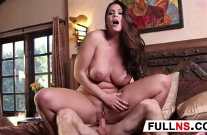 Big-boobed why gets virgin hard-on