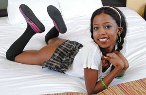 Nubile Little Ebony Teen's Very..